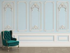 Classic interior wall with cornice and moldings Mural Removable Wallpaper,Peel & stick Wall Mural, Wall Art,Wall Sticker,Jess Art 42 Ceiling Design, Wall Design, House Design, Sky Ceiling, Ceiling Decor, Design Design, Wall Panel Molding, Moulding, Interior Walls