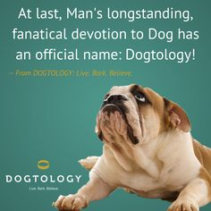 At last, Man's longstanding, fanatical devotion to Dog has an official name.