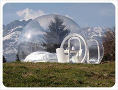 the crystal bubble... luxury camping.