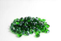 Shamrock Green Luster Fire Glass     10lb Jar SKU: ZIR-SMRKGRLST