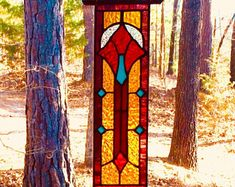Stunning stained glass panel gift art and collectibles stained glass suncatcher glass art