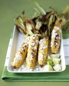 Grilled Corn with Lime and Cheese Recipe