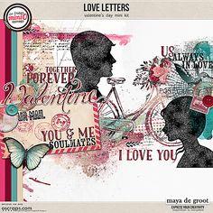 LoveLetters LoveLetters is an artsy Valentine's Day inspired mini kit part,  of the February 2017 Mini O's.