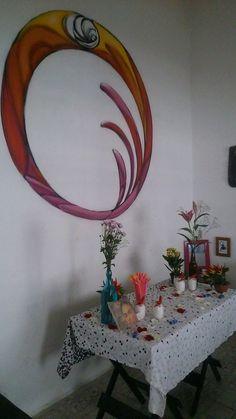 Portal que o amigo e artista plástico Jerry Batista criou para a sala de jantar!