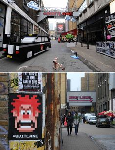 London's Brick Lane turned into an old-school computer game full of pixels as a promotion for Disney's new movie, Wreck-It Ralph