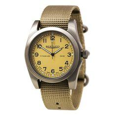 Bertucci 13306 Men's A-3T Vintage 42 Desert Stone Dial Nylon Strap Watch