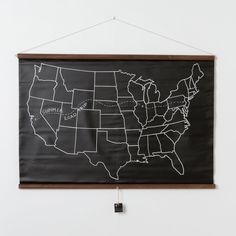 United States Chalkboard Map   Keep.com