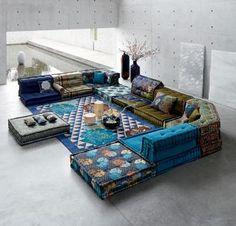 Roche Bobois Mah Jong boho sofa | Modular Setting Sofas ... | our ...