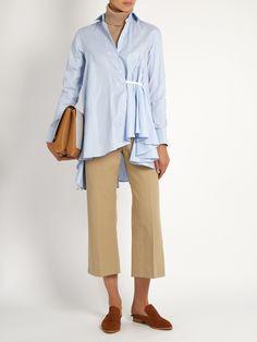Asymmetric waterfall-draped shirt | palmer//harding | MATCHESFASHION.COM
