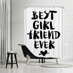 Bridgeman Best Girlfriend Ever Shower Curtain