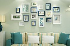14 pieces one set of different size solid wood picture photo frame set white wall hanging picture frame set home decor Staircase decor Collage Mural, Frame Wall Collage, Collage Picture Frames, Hanging Pictures On The Wall, Wall Hanging Photo Frames, Frames On Wall, Picture On Wood, Picture Wall, Picture Photo