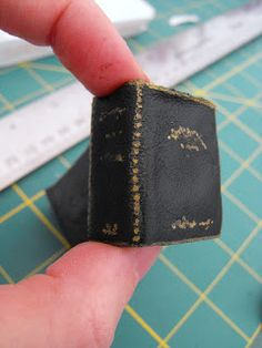 Ruby Murrays Musings: Teeny Tiny Leather Spell Book Tutorial