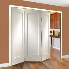 Ordinaire Freefold White Pattern 10 Style Folding 3 Door Set Will Look Great In Your  Home,