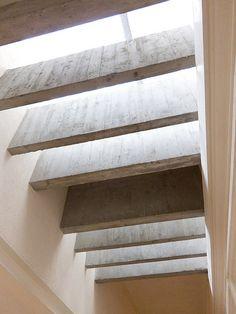 Canova Museum, Possagno - Carlo Scarpa. Skylight. Concrete blade beams.