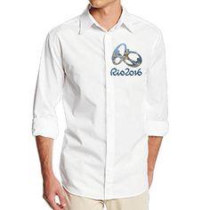 Boss-Seller Men's Classic The 2016 Rio De Janeiro Long Sleeve Dress Shirt Size XL White - Brought to you by Avarsha.com