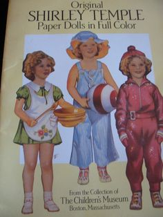 Shirley Temple paper dolls...have it