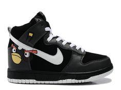 Angry Birds Nike Dunks High Custom Black