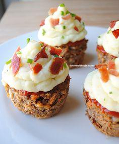 So, How's It Taste? » Meatloaf Cupcakes