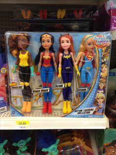 DC Superhero Girls dolls 4 pk.