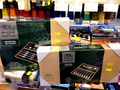 Lots of things in our sale including these Winton wooden box oil sets with £5 off #oilpainting #sale