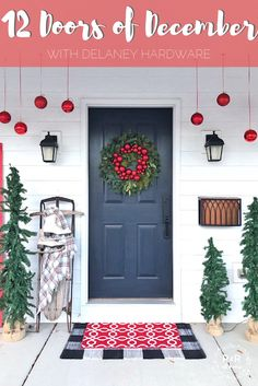 12 Doors of December with Delaney Hardware Christmas Porch, Outdoor Christmas Decorations, Winter Christmas, Christmas Crafts, Holiday Decor, Holiday Ideas, Christmas Ideas, Merry Christmas, Santa Claus Is Coming To Town