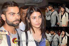 Anushka Sharma & Virat Kohli At Airport http://youngindia24.com/anushka-sharma-virat-kohli-at-airport/