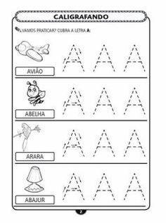 exercícios de caligrafia alfabeto completo   Visite o novo blog: http://coisasdepro.blogspot.com.br/