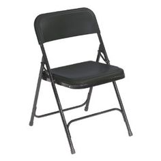 National Public Seating Outdoor Blue Metal Solid Standard Folding Chair at Lowe's. A folding chair that incorporates the strengths of a metal folding chair with the benefits of a plastic folding chair. The plastic seat and back are made Folding Chair Covers, Plastic Folding Chairs, Lightweight Folding Chair, Public Seating, Table And Chair Sets, Table Legs, Lowes Home Improvements, Chairs For Sale, Chair Pads