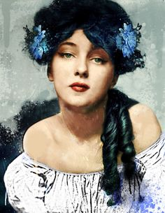 Unfinished by Canankk on DeviantArt Vintage Photographs, Vintage Photos, Evelyn Nesbit, Gibson Girl, Ancient Beauty, Hair Reference, Silhouette Cameo Projects, Silent Film, Portrait Art
