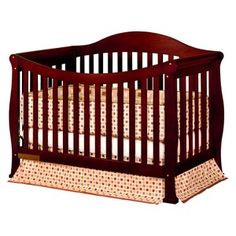 Athena Allie Convertible Crib with Toddler Rail - Cherry