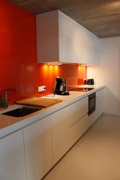 Kitchen palette - love the warmth of the splashback