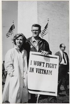 March for peace (Washington, D.C.): I won't fight in Vietnam (1965).  So glad that people spoke up against the war.  So sad for those Who had to go.