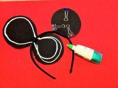 Mickey Mouse Ears Headband (or Minnie mouse) Mickey Party, Mickey Mouse Birthday, Minnie Mouse Party, Mouse Parties, 2nd Birthday, Birthday Ideas, Disney Diy, Disney Crafts, Costume Halloween