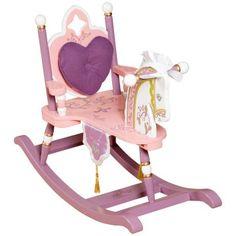 princess wooden rocking horse