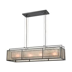 Elk Lighting Stasis - Four Light Billiard/Island, Oil Rubbed Bronze Finish with Tan/Clear Mica Glass. Elk Lighting, Island Lighting, Wall Sconce Lighting, Pendant Lighting, Table Lighting, Lighting Ideas, Pendant Lamp, Lighting Design, Bronze Chandelier