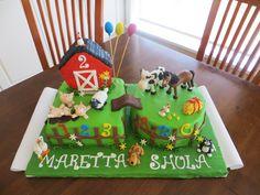 barnyard sheet cake - Google Search