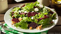 Here's how to make a tasty beet salad combined with creamy goat cheese and arugula then poured with red wine vinegar and olive oil dressing. http://recipes.mercola.com/beet-salad-recipe.aspx