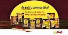 Hoy @supermercadomas vuelve a sortear 3 lotes de pasta oriental MAGGI, ¿quieres uno?