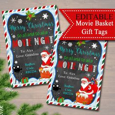 Christmas Movie Gift Tags, Secret Santa, Printable Teacher Gift, Merry Christmas To All & To All a Movie Night, Christmas Movie Night, Merry Christmas Love, Teacher Christmas Gifts, Christmas Presents For Teachers, Christmas Ideas, Christmas 2019, Teacher Appreciation Gifts, Teacher Gifts, Volunteer Appreciation