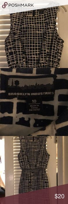 Brooklyn Industries dress Super cute navy and white dress from Brooklyn Industries. Fully lined. Thick cotton dress, amazing quality. Goes great with black tights or by itself in the summer! Dresses Mini