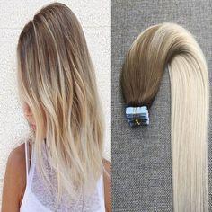 Multi-toned Dark Beige Blonde to Ash Blonde Skin Weft Tape in Hair Extensions50g