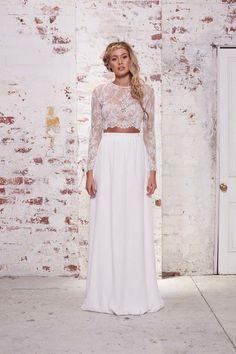 Moderno, o vestido de noiva duas peças é a tendência para 2016 que veio para ficar!