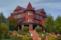 """McCune Mansion in Utah- Tour this """"simple"""" bungalow on Capitol Hill. They imported roof tiles from Holland , rare white satin-grained mahogany from South America , & a room-sized mirror from Germany . Ceiling  murals alone took an artist from NY 2 yrs. to finish. Completed in 1901 & restored in 2001. McCune Mansion remains a Utah showplace. Spend an hour touring the mansion from the first floor's octagonal reception room to the third floor's glittering ballroom."""