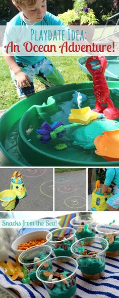 "{How to Host an ""Ocean Explorers"" Playdate} *Tip 3 is my favorite..."