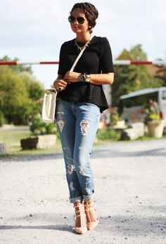 H&M  Jeans, H&M  Shirt and Vintage  Bolsos