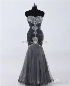 Wholesale New Style Sext Sweetheart Mermaid Beaded 2012 Prom Dresses Floor Length Discount Evening Gown, Free shipping, $128.8-145.99/Piece | DHgate