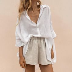 Mode Outfits, Casual Outfits, Fashion Outfits, Womens Fashion, Fashion Tips, Elegant Summer Outfits, Ladies Fashion, Casual Shirts, Summer Dresses