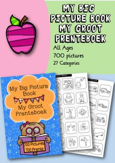 My Big Picture Book / My Groot Prenteboek - School Diva Learning Support, Big Picture, Vocabulary, My Books, This Book, Language, Parenting, Teacher, Education