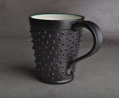 """Spiky Mug"" - Ceramic Mug with spikes   Design: Symmetrical Pottery"