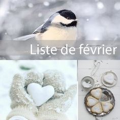 """Voici la liste de février... une tâche par jour seulement """" L'amour est un fleuve où les eaux de deux rivières se mêlent sans se confondre."""" Jacques de Bourbon (...)"""